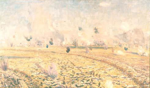 Battle-of-Fromelles-artist-Charles-Wheelar-panorama-Sugarloaf-Salient-area-Australian-soldiers-World-War-I-AWM-art07981_1