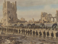 One of the stunning WWI images hand-coloured by 'digger artists'. Image courtesy State Library of NSW, ID a187136h.
