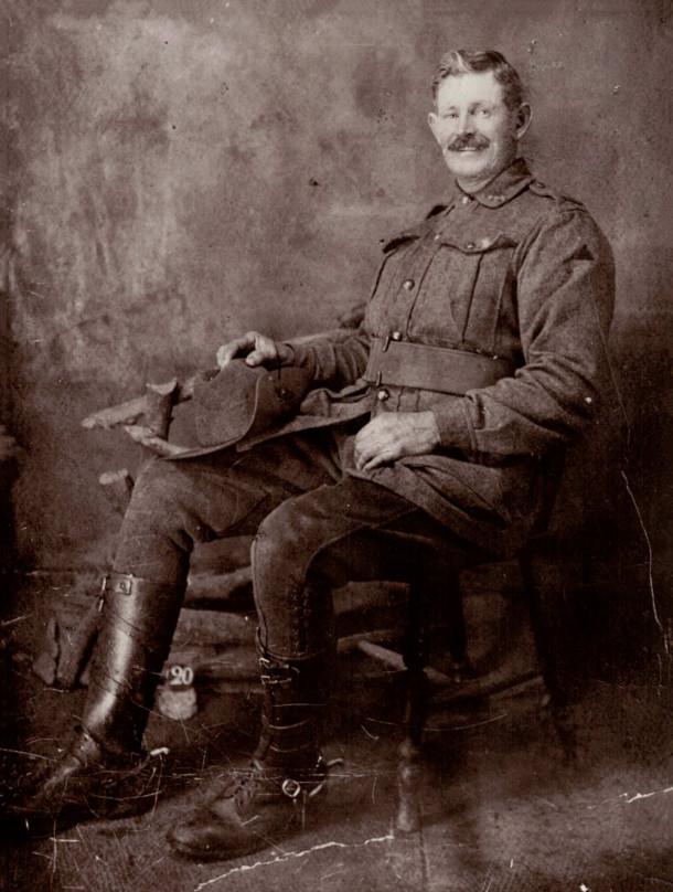 A studio photograph of HP Cornell in uniform, in late 1917. Courtesy Larry Cornell.