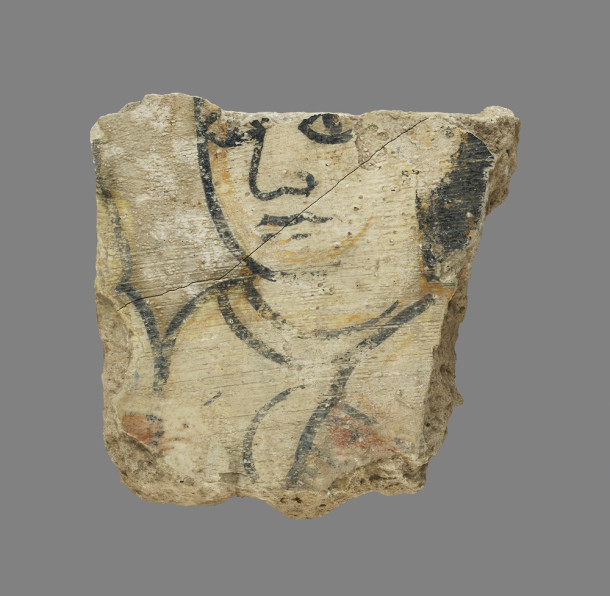 Fragments from a harem wall painting in Samarra, Iraq, likely depicting slave girls, c.800–900 AD. Harem girls were often trained poets and musicians as well as wives and concubines.