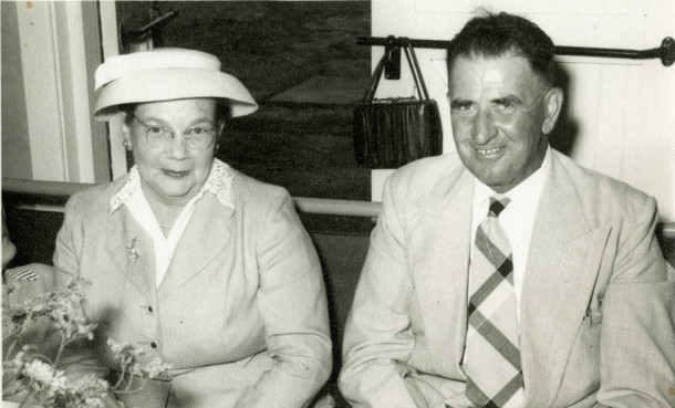 Marj and her husband Bert at a wedding in 1959. Courtesy Ted Witham.