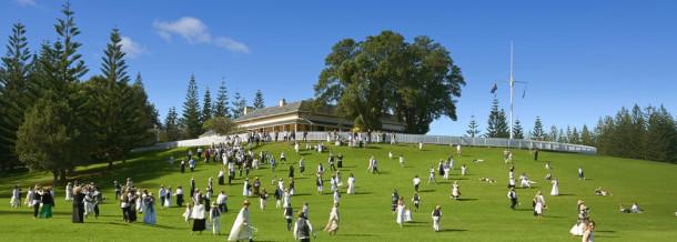 A historic re-enactment on Norfolk Island. Courtesy Norfolk Island Travel Centre.
