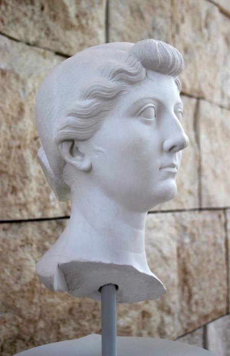 A cast of a portrait of Livia. Image courtesy Giovanni Dall'Orto and Wikimedia.