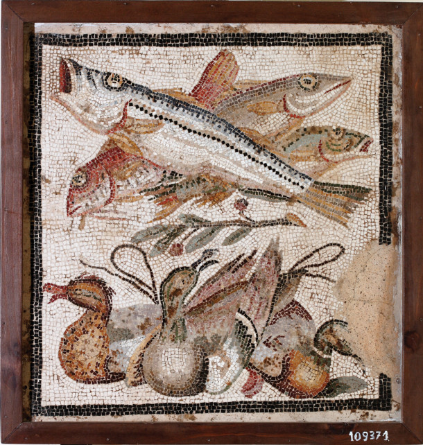 A fresco from Pompeii, 1st century AD. Courtesy Ministero dei Beni Culturali e delTurismo – Museo Archeologico di Napoli.