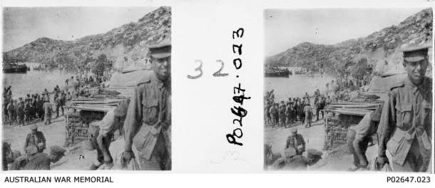 Stereoscopic images taken by Sir Charles Ryan on Gallipoli. Courtesy Australian War Memorial, P02647_023.