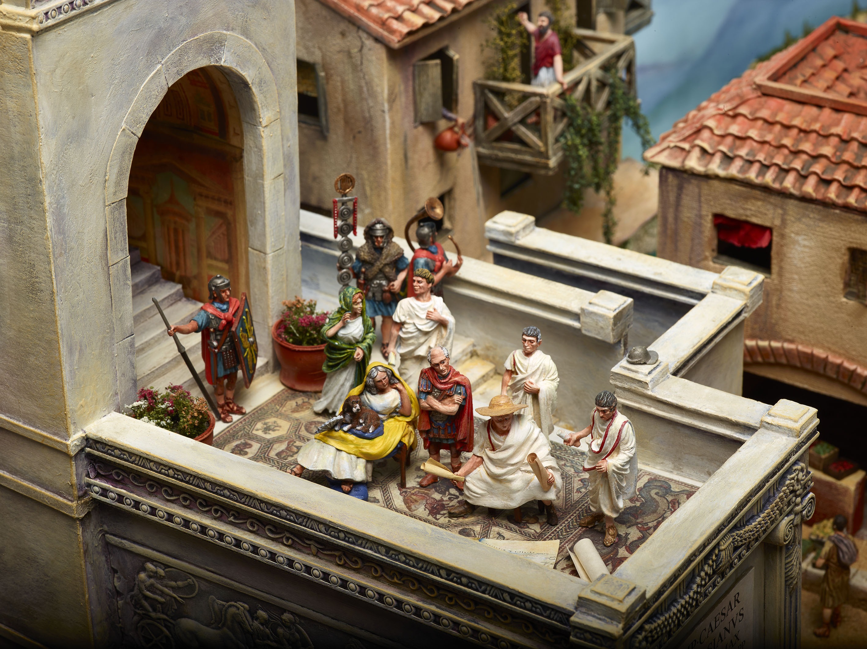 Miniature Children S Bedroom Room Box Diorama: Escape From Pompeii :: Brought
