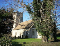 Church of St Edmund in Hauxton, Cambridgeshire. Courtesy Wikimedia and Cruccone.