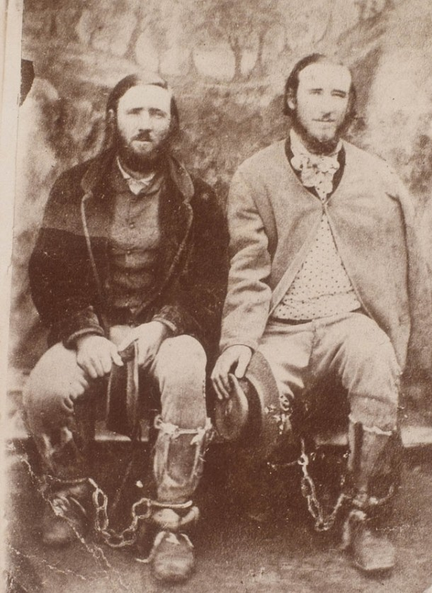 The Clarke brothers apprehended in Braidwood Jail, May 1867. Courtesy State Library of NSW and Wikimedia Commons.