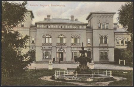 A  W.T. Pater Postcard of Beechworth Lunatic Asylum. Courtesy of SLV H87.206/70