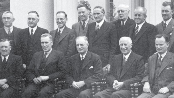 John Curtin, seated third from left. Courtesy RandomHouse.