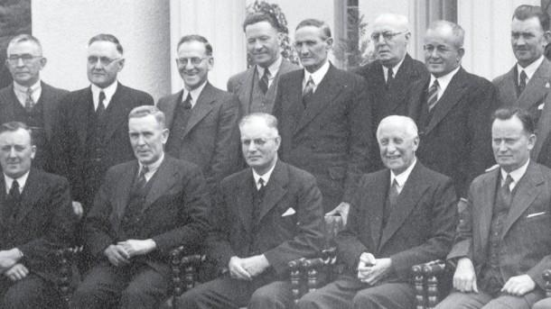 John Curtin, seated third from left. Courtesy RandomHouse.