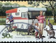 Australian caravanning 1960s style. Image (C) istock.com/raclro
